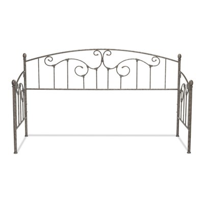 Marcy Metal Daybed with Sloping Rails and Vertical Spindles