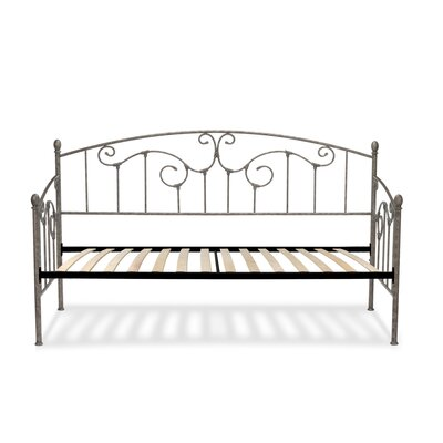 Marcy Modern Metal Daybed with Vertical Spindles Accessories: Euro Top Deck