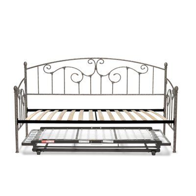 Marcy Modern Metal Daybed with Vertical Spindles Accessories: Trundle Bed Pop-Up Frame