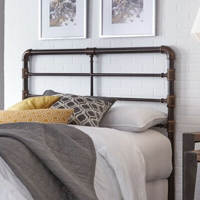 Willa Metal Open-Frame Headboard Size: Full