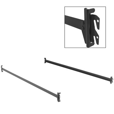 Bed Rails Keyslot Frame with Bolt-On Headboard Brackets