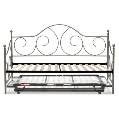 Steelton Metal Daybed with Trundle Finish: Matte Gray Flint