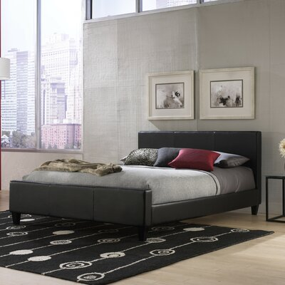 Euro Platform Bed Size: Full, Finish: Black