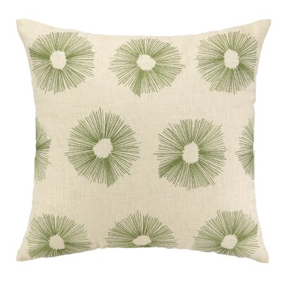 Etoile Embroidered Decorative Linen Throw Pillow Color: Moss