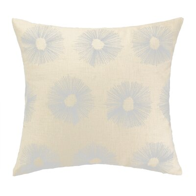 Etoile Embroidered Decorative Linen Throw Pillow Color: Silver