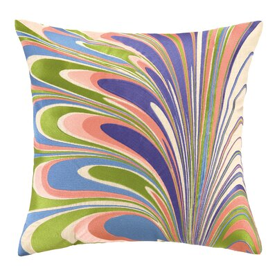 Marbled Madness Linen Throw Pillow