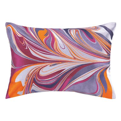 Marbled Madness Linen Lumbar Pillow