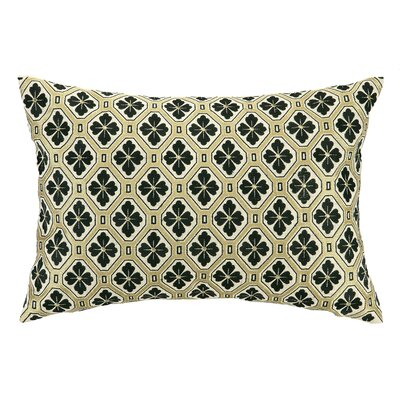 Tulipe Noire Embroidered Decorative Linen Lumbar Pillow