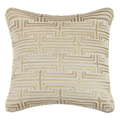 Labyrinth Linen Throw Pillow Color: Gold