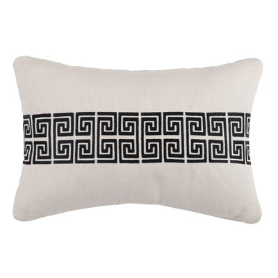 Mykonos Linen Throw Pillow Color: Graphite