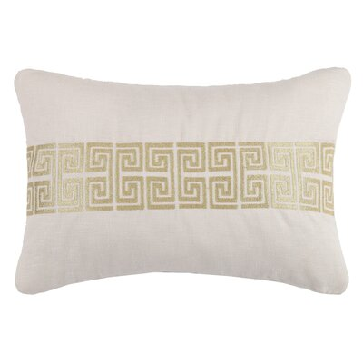 Mykonos Linen Throw Pillow Color: Gold