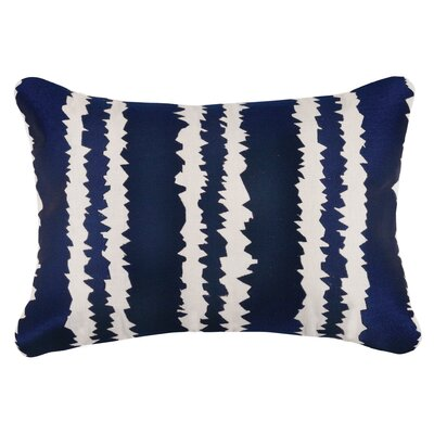 Santorini Linen Throw Pillow Color: Indigo