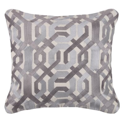 Galway Linen Throw Pillow Color: Gray
