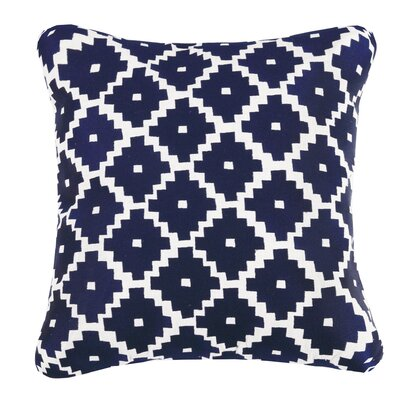 Taos Linen Throw Pillow Color: Indigo