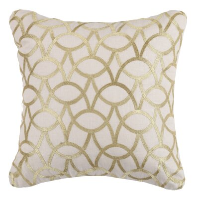 Abbey Linen Throw Pillow Color: Gold