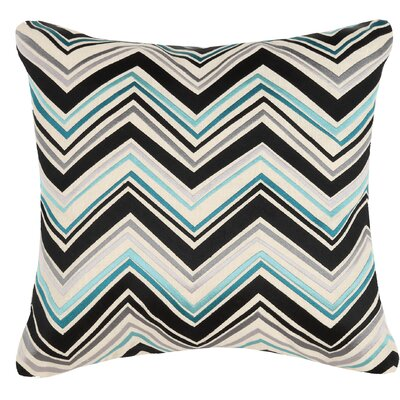 Lightning Linen Throw Pillow Color: Blue