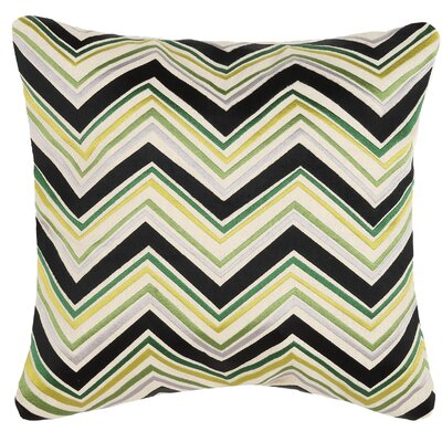 Lightning Linen Throw Pillow Color: Green