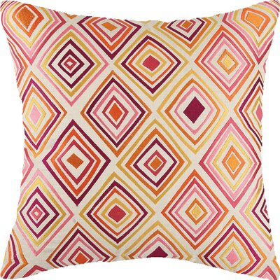 Bullseye Linen Throw Pillow Color: Orange/Pink