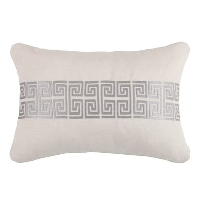 Mykonos Linen Throw Pillow Color: Stone