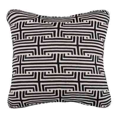 Labyrinth Linen Throw Pillow Color: Graphite