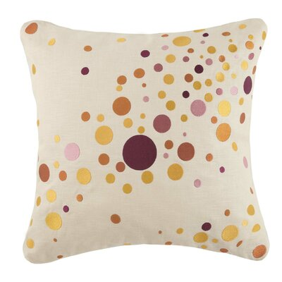 Seltzer Linen Throw Pillow Color: Orange/Pink