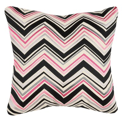 Lightning Linen Throw Pillow Color: Pink