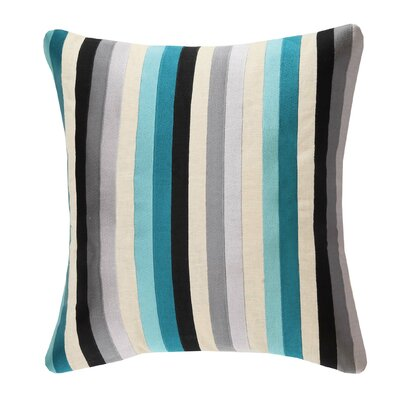 Straight Up Linen Throw Pillow Color: Blue