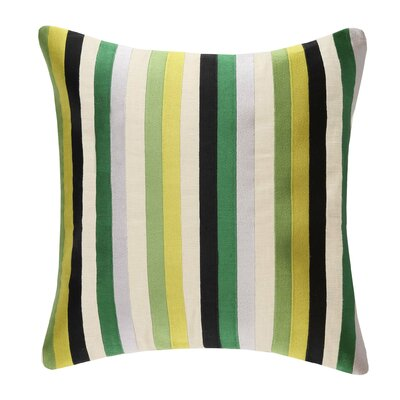 Straight Up Linen Throw Pillow Color: Green