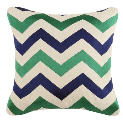 Throw Pillow Color: Jackson Emerald/Navy