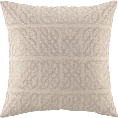 Embroidered Nautical Knot Linen Throw Pillow Color: Metallic Silver