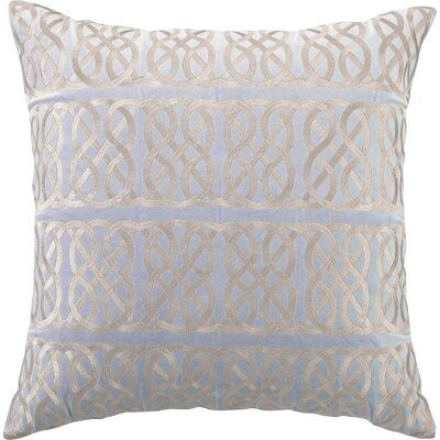 Embroidered Nautical Knot Linen Throw Pillow Color: Blue