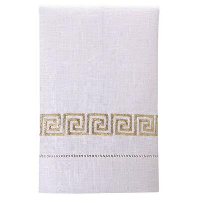 Guest Towels Greek Key Linen Hand Towel
