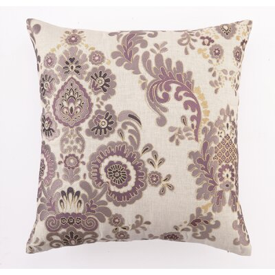 Embroidered Marseilles Linen Throw Pillow Color: Purple