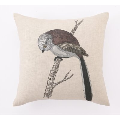Swallow Tail ed Embroidered Linen Pillow