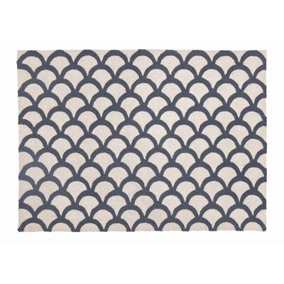 Scales Gray Hook Area Rug Rug Size: 210 x 311