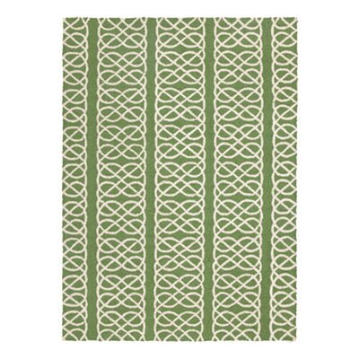 Nautical Knot Hook Green Area Rug Rug Size: 210 x 311