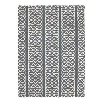 Nautical Knot Hook Grey Area Rug Rug Size: 210 x 311