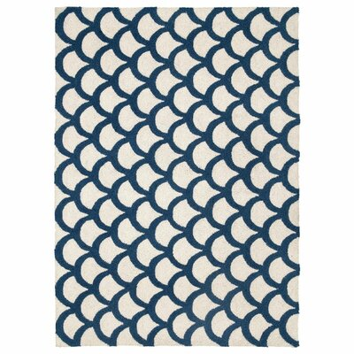 Scales Teal Hook Area Rug Rug Size: 210 x 311
