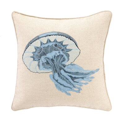 Jellyfish Linen Throw Pillow