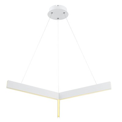Design Geometric Pendant Finish: White