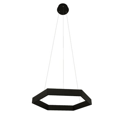 Geometric Pendant Finish: Black