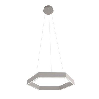Geometric Pendant Finish: Light Gray
