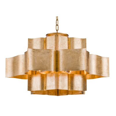 12-Light Waterfall Chandelier Finish: Gold