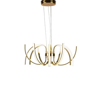 12-Light LED Geometric Pendant Finish: Gold