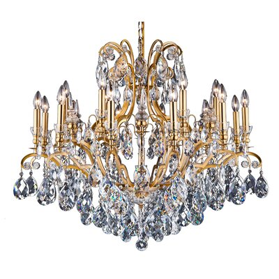 19-Light Crystal Chandelier Finish: Antique Brass