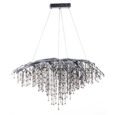 11-Light Waterfall Chandelier Finish: Silver