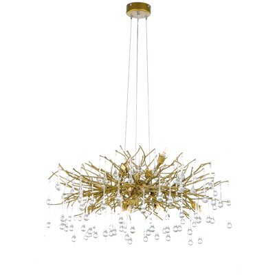 10-Light Waterfall Chandelier Finish: Gold