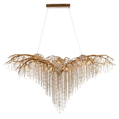 26-Light LED Waterfall Chandelier Finish: Gold