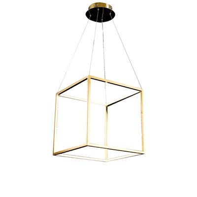 LED Geometric Pendant Size: 17