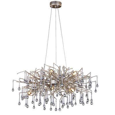 10-Light Waterfall Chandelier Finish: Silver